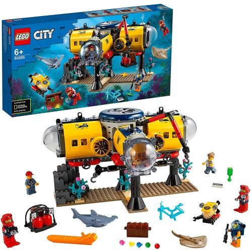 LEGO 60265 City Oceans Exploration Base Deep Sea Underwater Set, Diving Adventures Toys for Kids