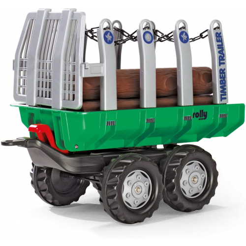 Rolly Timber Trailer Green & 5 Logs