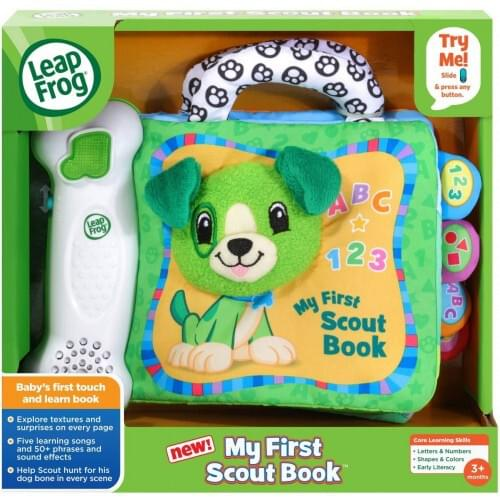 LeapFrog My First Scout Book, Touch and Learn Musical Baby Toy