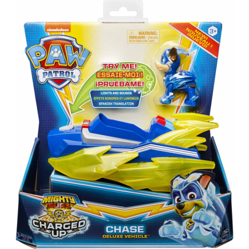 Paw Patrol - Vehicle + Figure Mighty Pups Charged Up Paw Patrol Assortment