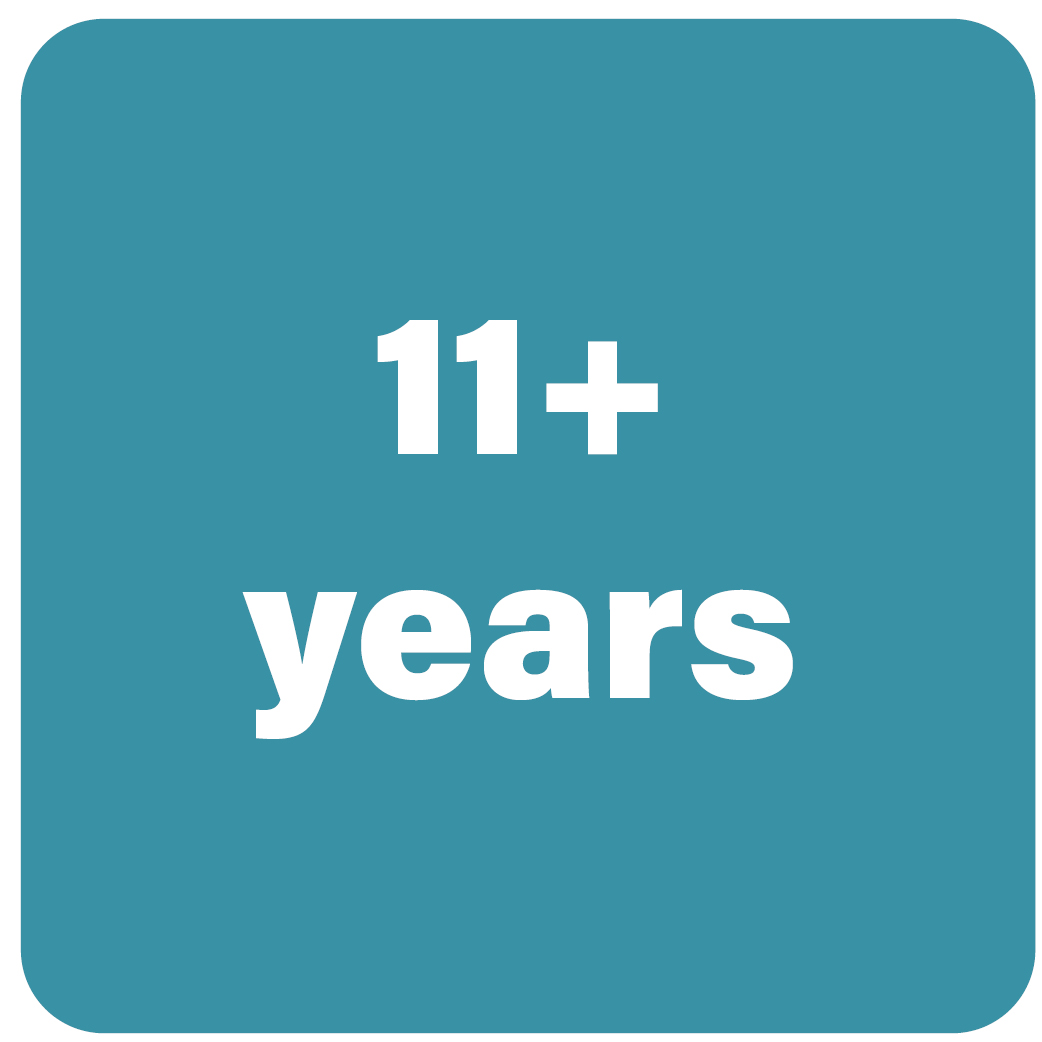 11+ years