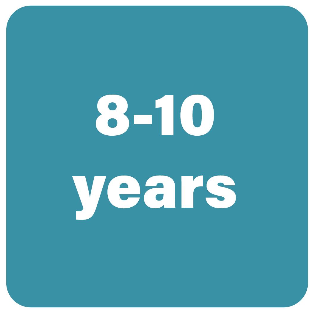 8-10 years
