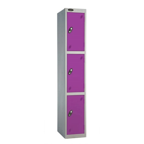 3 compartment single locker - 1780h x 460w x 460d