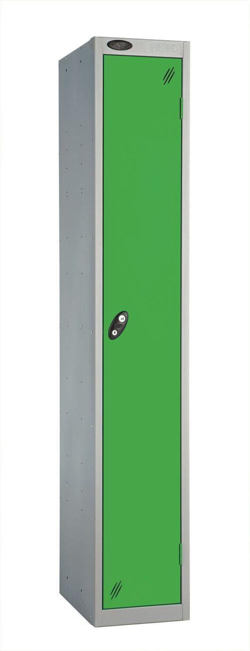 Single Compartment locker silver/green