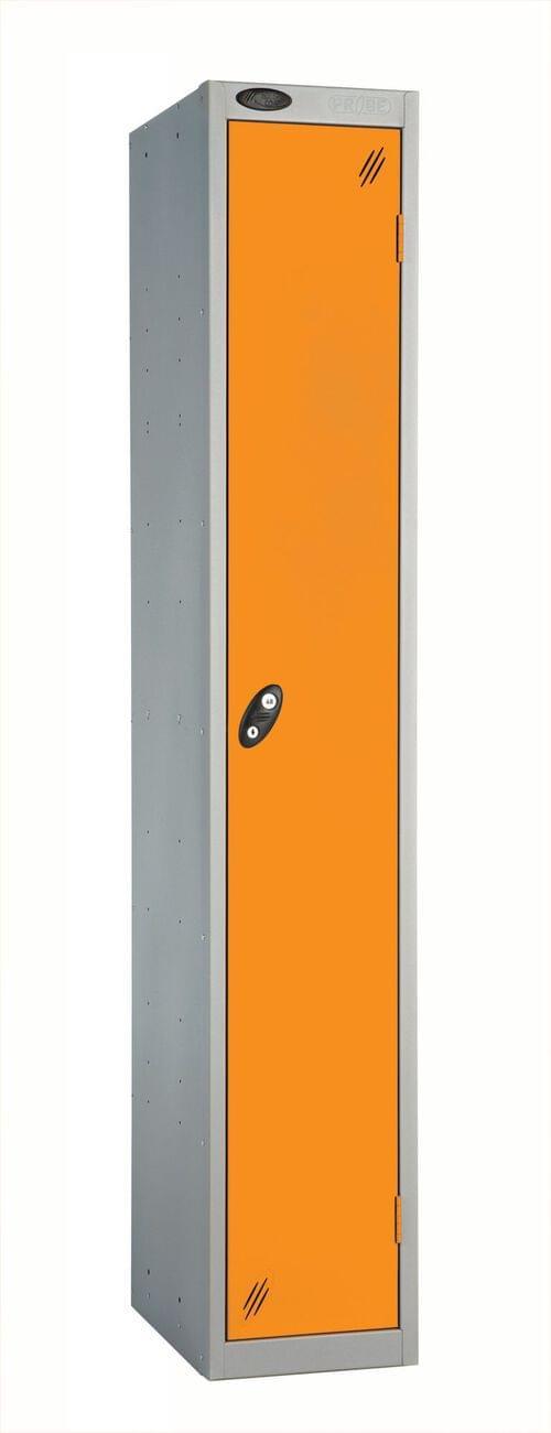 Single Compartment locker silver/orange