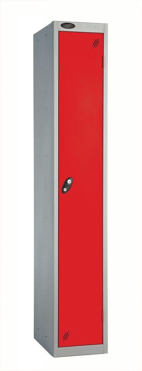 Single Compartment locker silver/red