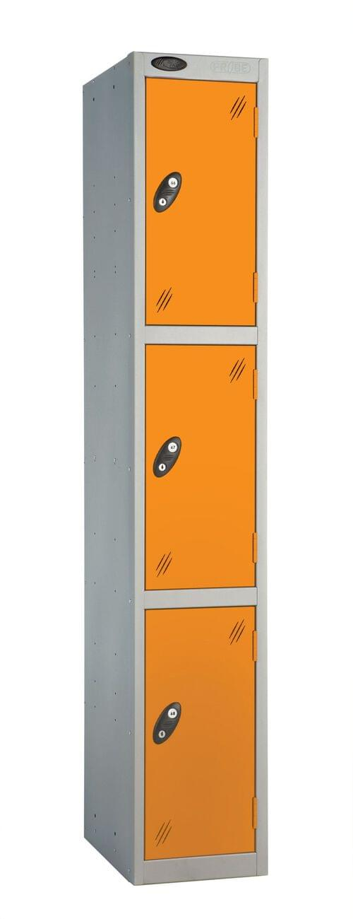 3 Compartment locker silver/orange