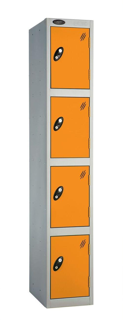 4 Compartment locker silver/orange