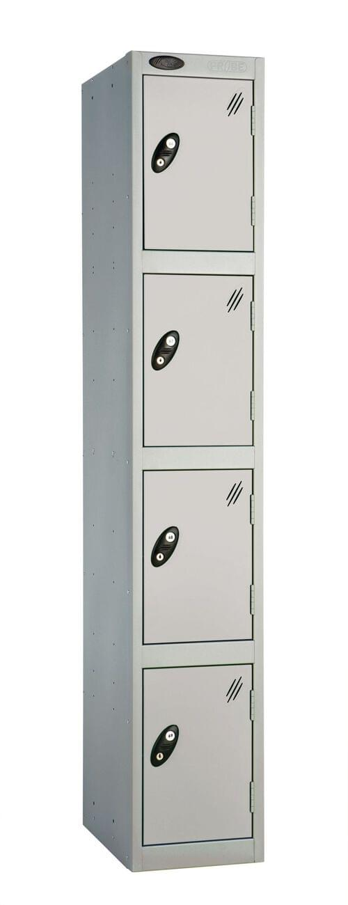 4 Compartment locker silver/silver