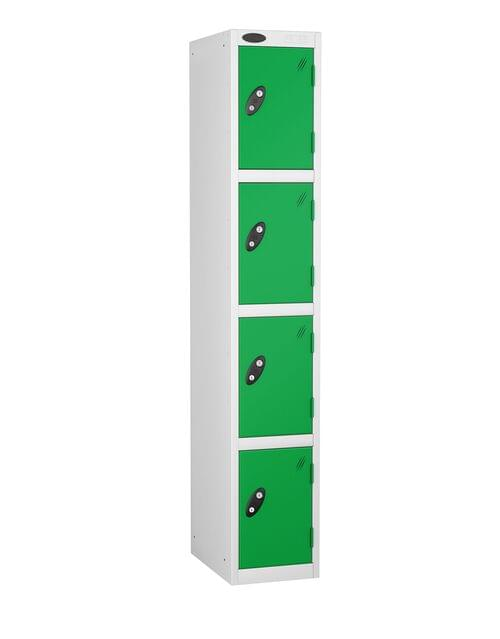 4 Compartment locker white/green