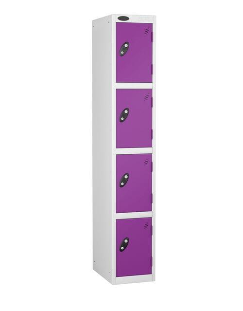 4 Compartment locker white/lilac