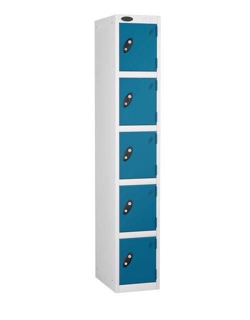 5 Compartment locker white/blue