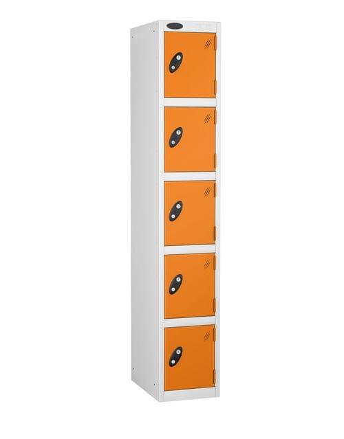 5 Compartment locker white/orange