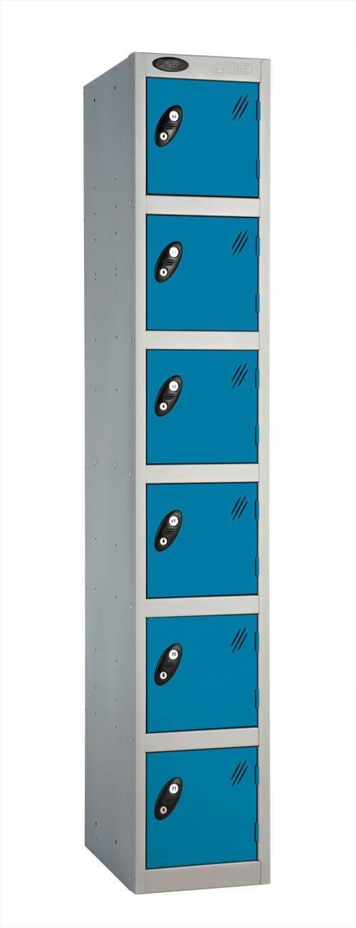 6 Compartment locker silver/blue