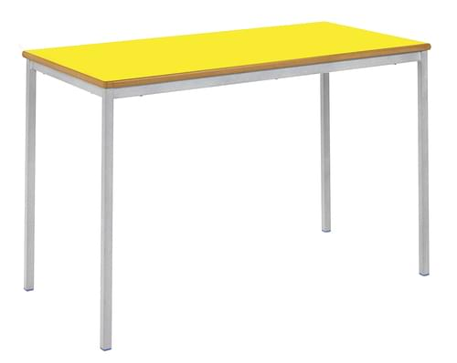 Fully Welded Spiral Stacking Tables - 25mm Square Tube / 18mm MDF Tops / MDF Bullnose Edge