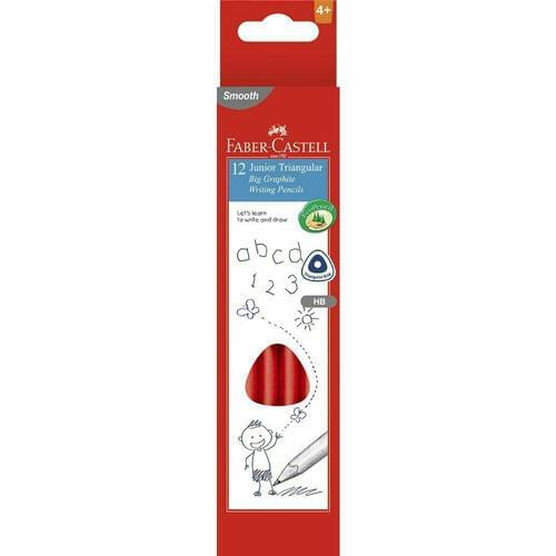 Faber Castell Junior Grip Triangular Pencils HB (Pack of 12)
