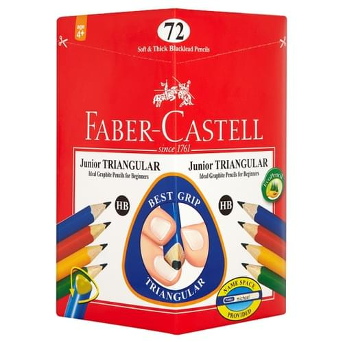 Faber Castell Junior Grip Triangular Pencils HB (Pack of 72)