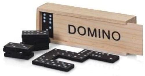 Domino Set in a Wooden Case