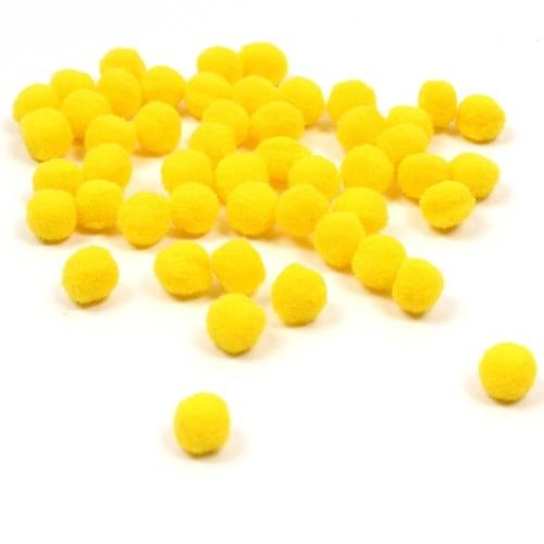 Pom-Poms Yellow 25mm & 40mm (Pack of 30)