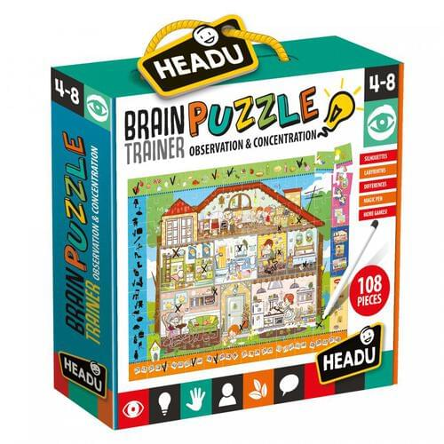 Brain Trainer Jigsaw Puzzle & Educational Game