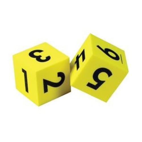 Foam Number Dice 5cm x 5cm (Pack of 2)