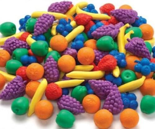 Fruit Counters in Storage Jar (Pack of 108)