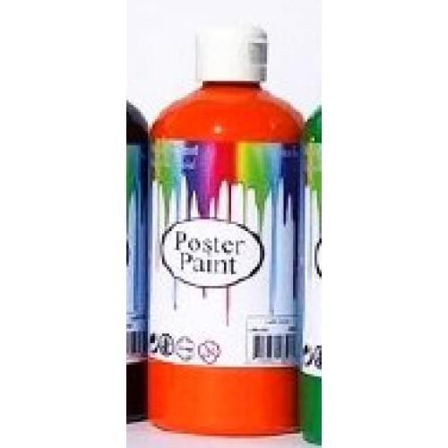 Poster Paint Orange 500ml (Pack of 1)