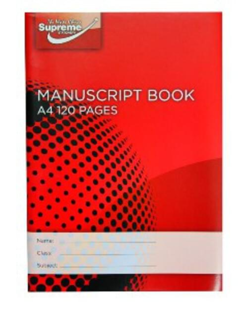 Soft Cover A4 Manuscript Book 120 Pages (Pack of 10)