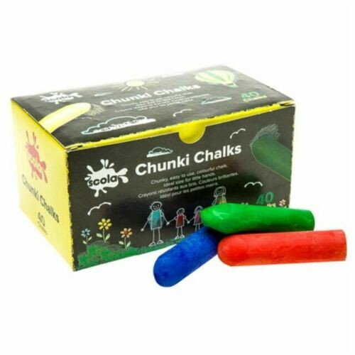 Chunkie Chalk Assorted Colours (Pack of 40)