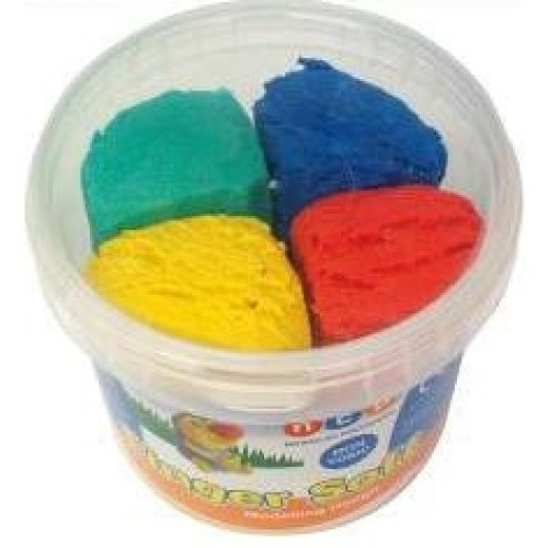 Fingersoft Dough In Tub Assorted Colours (Pack of 4)
