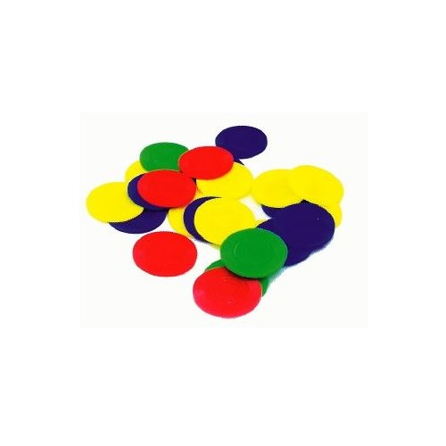 Touch Counters Assorted Colours 22mm (Pack of 500)