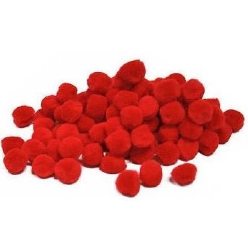 Pom-Poms Red 25mm & 40mm (Pack of 30)