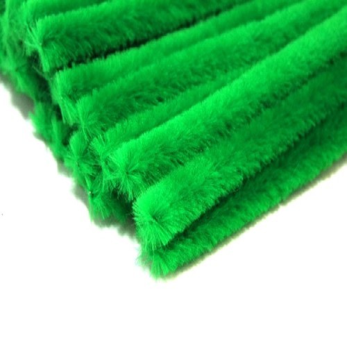 """Chenille Pipe Cleaners 12"""" Length Green (Pack of 25)"""