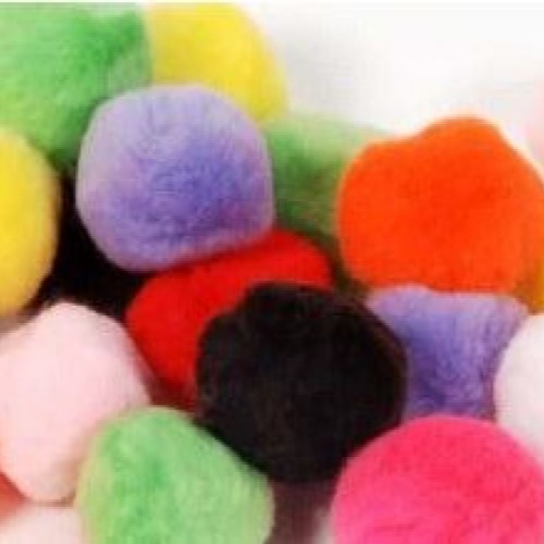 Pom-Poms Assorted Colours 40mm (Pack of 50)