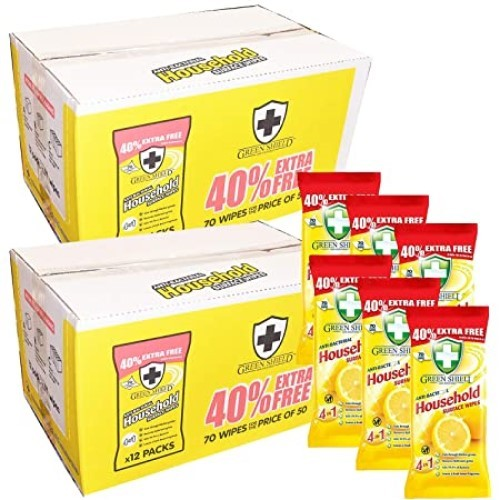 Ani-Bacterial Wipes (Pack of 50)