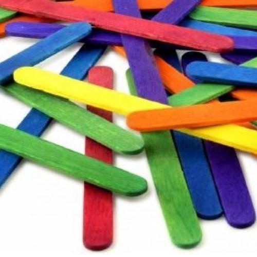 Lollipop Sticks Assorted Colours (Pack of 500)