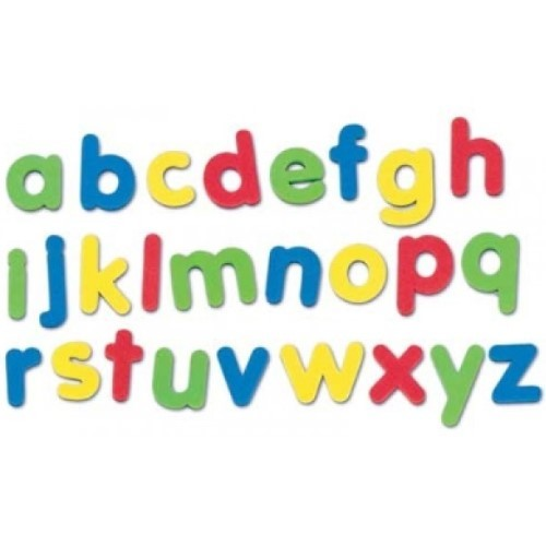 Foam Magnetic Letters Lower Case Assorted Colours (Pack of 100)