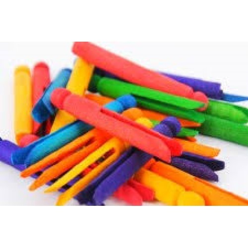 Dolly Pegs Assorted Colours 9.5cm (Pack of 10)