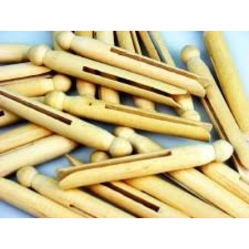 Dolly Pegs Natural Colour 9.5cm (Pack of 10)
