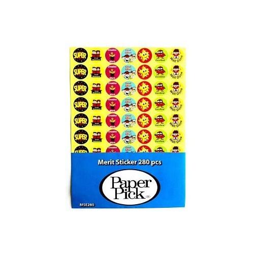 Merit Stickers - English Language (280 Stickers)