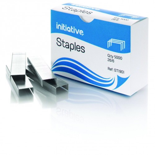 Initiative Staples 26/6mm 210 Staples Per Strip Pack of 5000