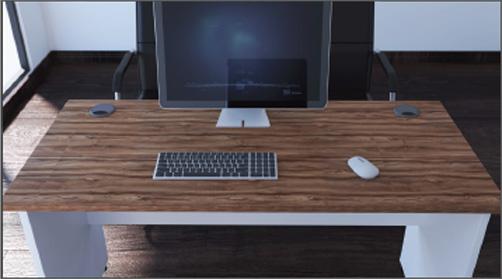 Impulse Two Tone Panel Desk