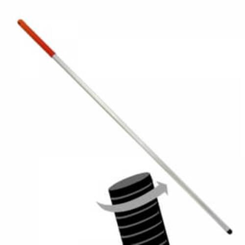 Aluminium Treaded Hygien Mop  Handle Red