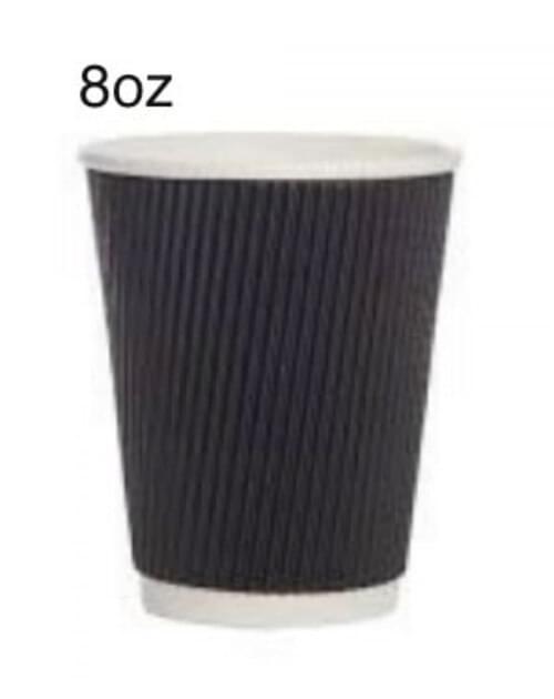 Black Ripple 8oz Cups (Pk 500)