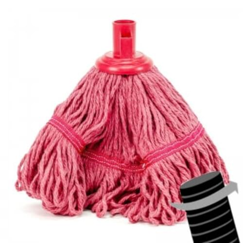 Full  Colour  Twister Banded Mop Head Red