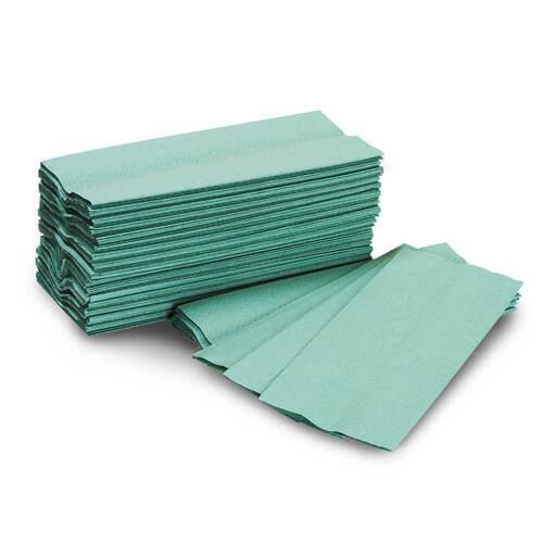 Pristine C Fold Hand Towels Green PK3000