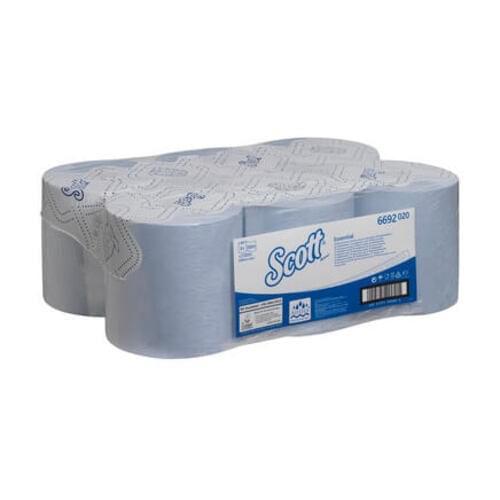 6692 Scott Hand Towel  Roll  Blue   350m (Pack of 6)