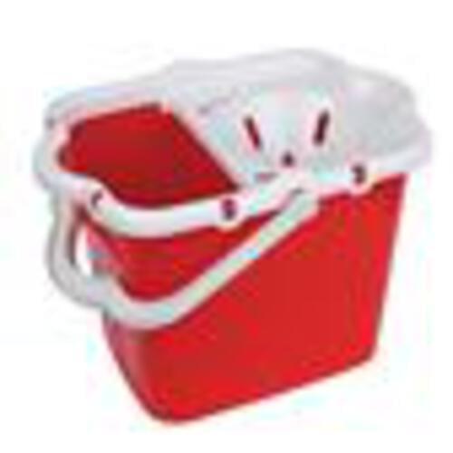 Plastic Strainer Type Mop Bucket Red