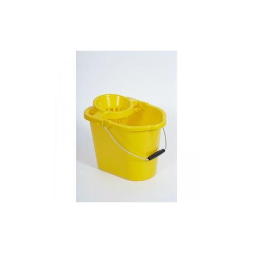 Plastic Strainer Mop Bucket Yellow