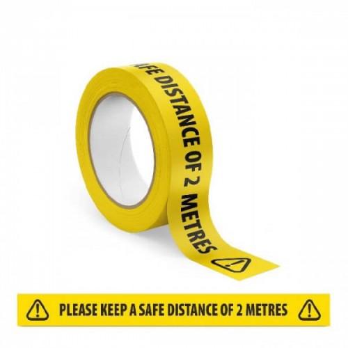 Keep 2M Apart Anti Slip Floor Tape
